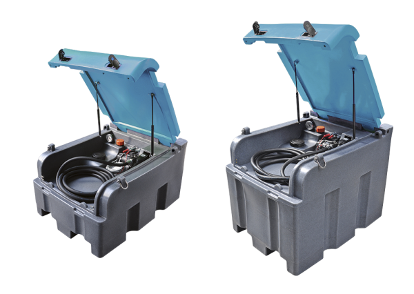 AdBlue Tankanlagen in 200 und 400 Litern mit geöffnetem Deckel
