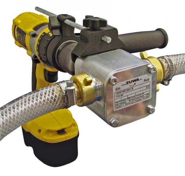 Pumpe ohne Antrieb mit Adapter für Akkuschrauber