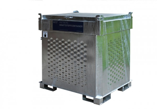 Behälter mit 1000 Liter Volumen mit geschlossenem Deckel