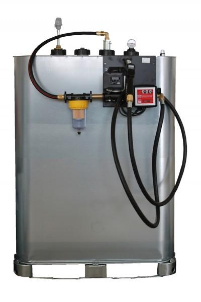 Hoftankstelle SUPERIOR mit Pumpe und Zählwerk Frontalansicht mit optionalem Dieselfilter