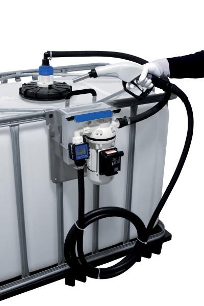 Betankungsset auf Platte montiert, Anwendung an 1000 Liter IBC