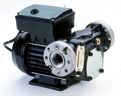 """Dieselpumpe Panther 72 -12V,  230V, 400V- 72l/min- Ansicht mit Flanschen 1"""" iG"""