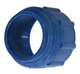 blauer Adapter für Plastikfässer