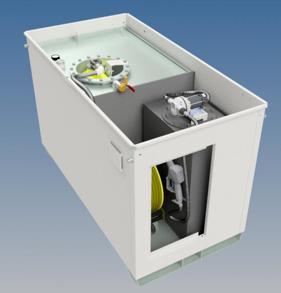 Kraftstoffbehälter KB 1000 Multi, verzinkt und pulverbeschichtet für Diesel