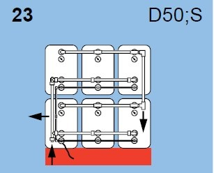 Blockaufstellung: Heizöltank Roth dwt plus 3 750 Liter, Batterietanks