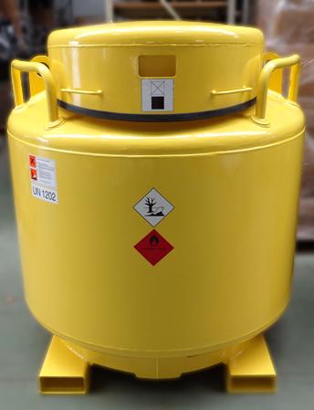 Kraftstoffbehälter LT 1000 mit gelber Pulverbeschichtung