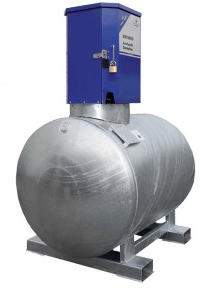 zylindrisch liegende mobile Dieseltankstelle mit Schutzschrank für die Pumpe
