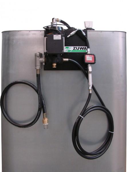 Tankanlage für Öle und Schmierstoffe mit 1000 Liter Tank, Pumpe, Schläuchehn und Zählwerk